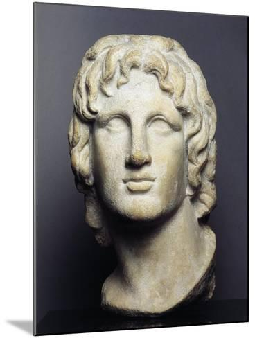 Marble Head of Alexander the Great--Mounted Giclee Print