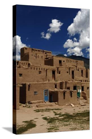 United States, Taos Pueblo, Adobe Buildings--Stretched Canvas Print