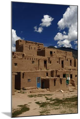 United States, Taos Pueblo, Adobe Buildings--Mounted Giclee Print