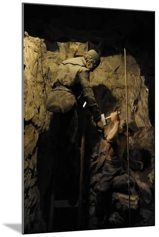 Mining, Shaft Sinking by Hand with Hammer and Wedge, Diorama--Mounted Giclee Print