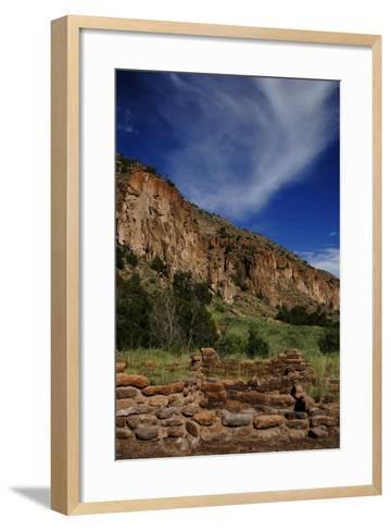 USA, Near Los Alamos, New Mexico, Bandelier National Monument--Framed Art Print