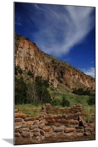 USA, Near Los Alamos, New Mexico, Bandelier National Monument--Mounted Giclee Print