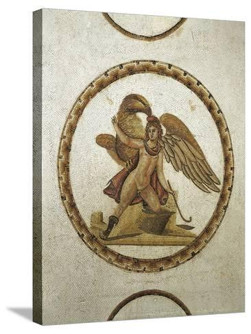 Mosaic Work Depicting Ganymede Kidnapped by Zeus--Stretched Canvas Print