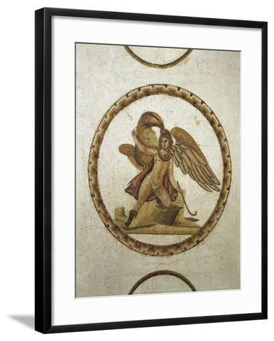 Mosaic Work Depicting Ganymede Kidnapped by Zeus--Framed Art Print