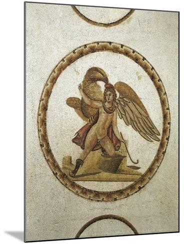 Mosaic Work Depicting Ganymede Kidnapped by Zeus--Mounted Giclee Print