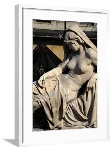 Italy, Milan, Detail Sculpture--Framed Art Print