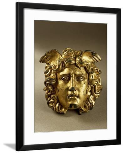 Bronze Gilt Medusa Head from Temple of Aesculapius at Ulpia Traiana Sarmizegetusa, Romania--Framed Art Print