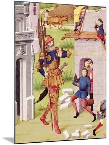 King Nebuchadnezzar, Miniature from Chronicles of Bouquechardiere, 1450--Mounted Giclee Print