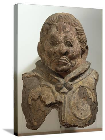 Heavenly King, Clay Bust, Japan. Japanese Civilization, Nara Period, End 8th Century--Stretched Canvas Print