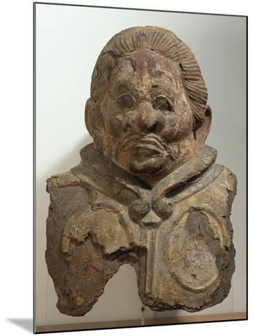 Heavenly King, Clay Bust, Japan. Japanese Civilization, Nara Period, End 8th Century--Mounted Giclee Print