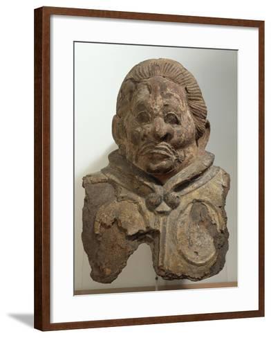 Heavenly King, Clay Bust, Japan. Japanese Civilization, Nara Period, End 8th Century--Framed Art Print