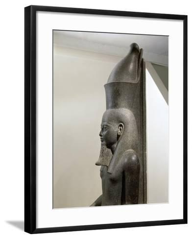 Granite Statue of Horemheb before God Amon--Framed Art Print