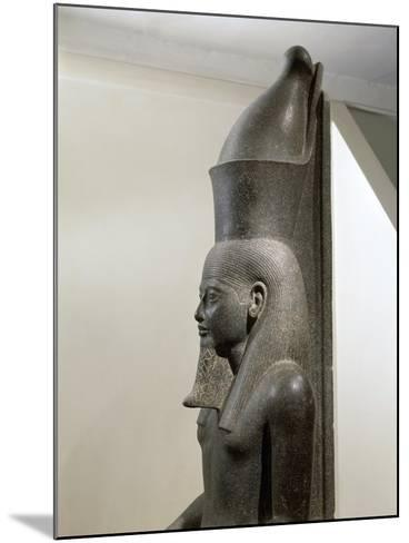 Granite Statue of Horemheb before God Amon--Mounted Giclee Print