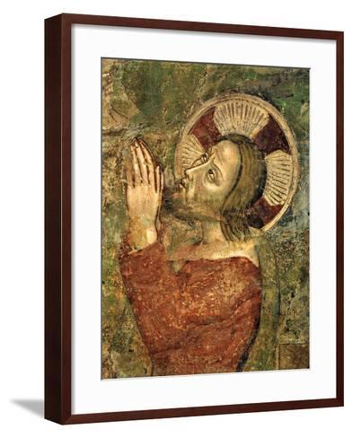 Jesus Praying in Garden--Framed Art Print