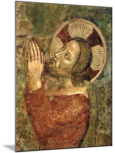 Jesus Praying in Garden--Mounted Giclee Print