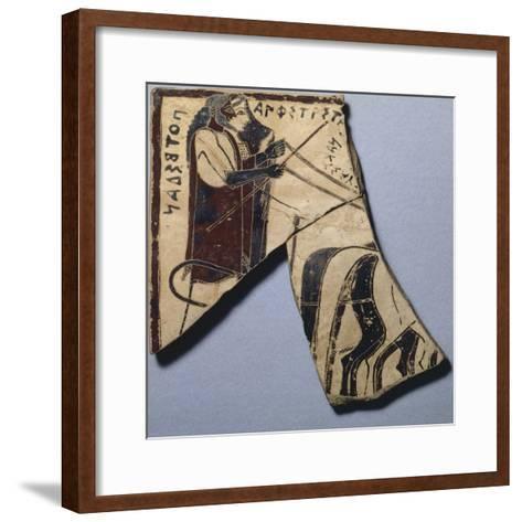 Pinax of Penteskouphia, Amphitrite and Poseidon, Ancient Greece--Framed Art Print