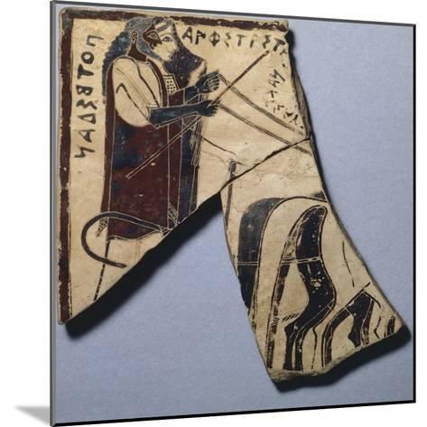 Pinax of Penteskouphia, Amphitrite and Poseidon, Ancient Greece--Mounted Giclee Print