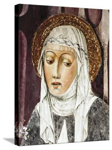 St Catherine of Siena, Detail from St Francis Church, Lodi, Italy--Stretched Canvas Print