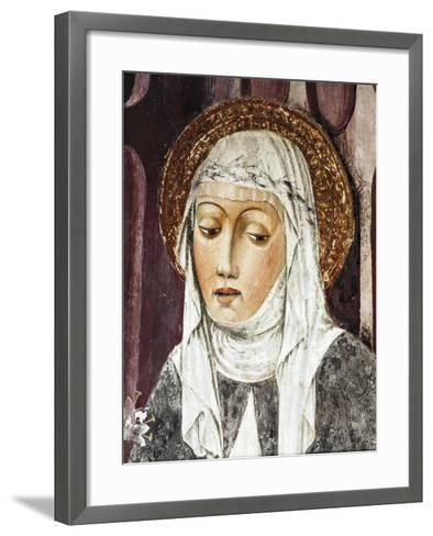 St Catherine of Siena, Detail from St Francis Church, Lodi, Italy--Framed Art Print