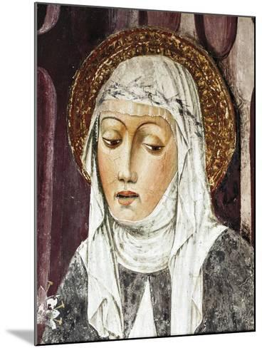 St Catherine of Siena, Detail from St Francis Church, Lodi, Italy--Mounted Giclee Print