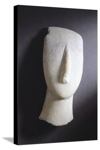 Oval-Shaped Head from Amorgos, Greece, Cycladic Culture, 3rd Millennium BC--Stretched Canvas Print