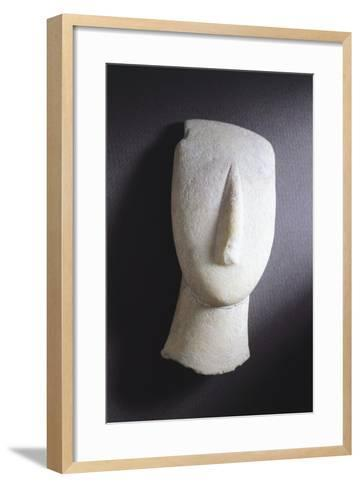 Oval-Shaped Head from Amorgos, Greece, Cycladic Culture, 3rd Millennium BC--Framed Art Print
