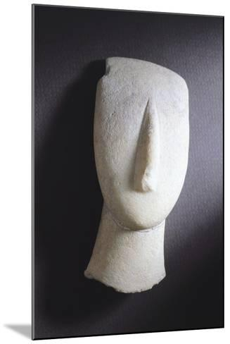Oval-Shaped Head from Amorgos, Greece, Cycladic Culture, 3rd Millennium BC--Mounted Giclee Print