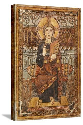 Christ on the Throne, Miniature from the Godescalco Gospels, Germany 8th Century--Stretched Canvas Print