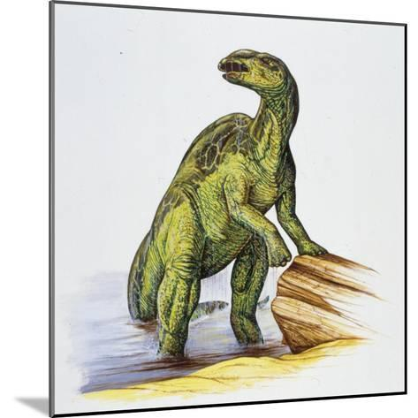 Illustration of Anatotitan by Tree Log--Mounted Giclee Print