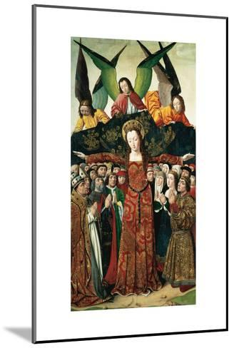 The Virgin of Mercy, Altarpiece from the Convent of Saint Clare, Spain--Mounted Giclee Print