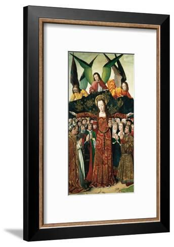 The Virgin of Mercy, Altarpiece from the Convent of Saint Clare, Spain--Framed Art Print