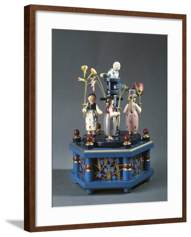 Tyrolean Carousel with Music Box--Framed Art Print