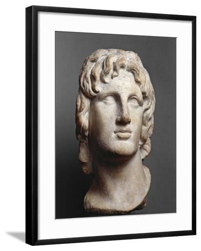 Marble Head of Alexander the Great--Framed Art Print