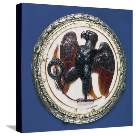 Cameo with Eagle and Symbols of Victory, Onyx, Silver-Gilt Frame in Second Half of 16th Century--Stretched Canvas Print