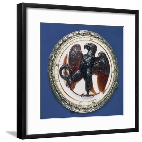 Cameo with Eagle and Symbols of Victory, Onyx, Silver-Gilt Frame in Second Half of 16th Century--Framed Art Print