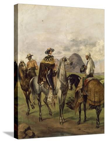 Mexico, Ranchers--Stretched Canvas Print