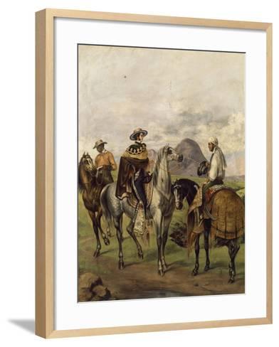 Mexico, Ranchers--Framed Art Print