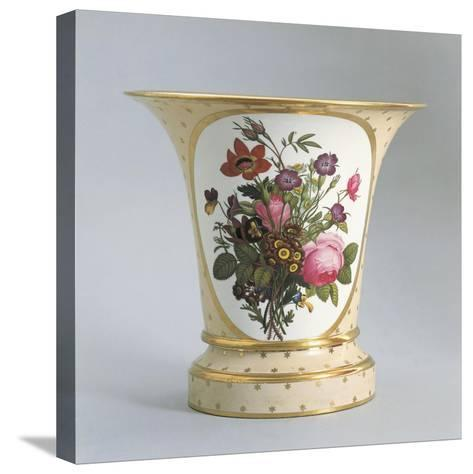 Vase with Floral Decorations--Stretched Canvas Print