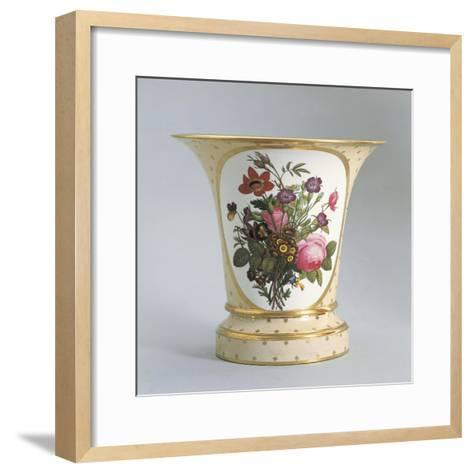 Vase with Floral Decorations--Framed Art Print