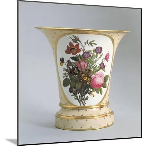 Vase with Floral Decorations--Mounted Giclee Print