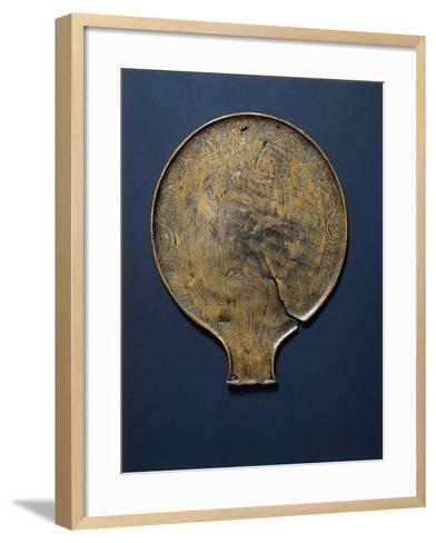 Mirror with Engraving Depicting Minerva Who Comes from the Head of Jupiter.--Framed Art Print