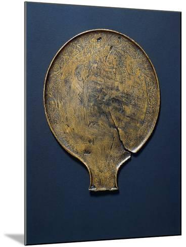 Mirror with Engraving Depicting Minerva Who Comes from the Head of Jupiter.--Mounted Giclee Print