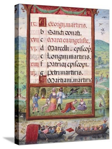 Month of May, Miniature, 16th Century--Stretched Canvas Print