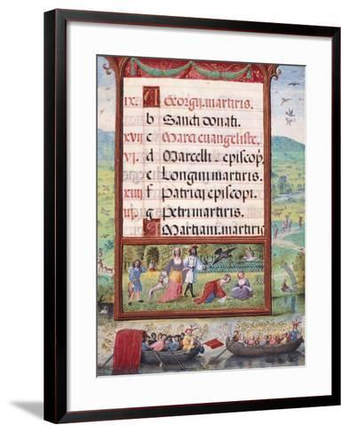 Month of May, Miniature, 16th Century--Framed Art Print