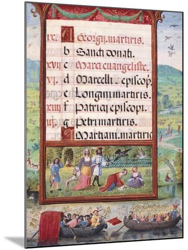 Month of May, Miniature, 16th Century--Mounted Giclee Print