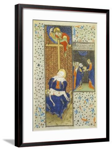 Pieta, Miniature from the Master of Hours by Rohan, France 15th Century--Framed Art Print
