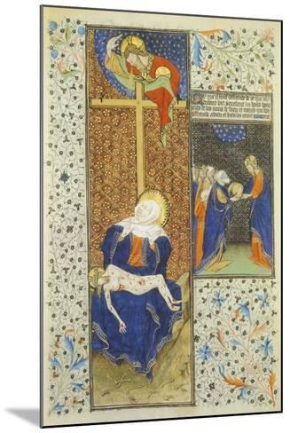 Pieta, Miniature from the Master of Hours by Rohan, France 15th Century--Mounted Giclee Print