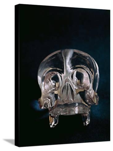Quartz Crystal Skull--Stretched Canvas Print