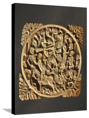 Battle Scene, Ivory Mirror Box, 1380, France--Stretched Canvas Print
