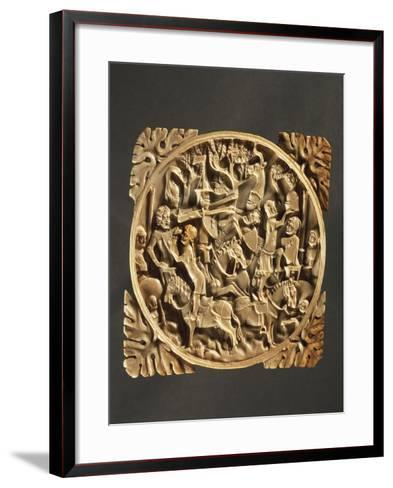 Battle Scene, Ivory Mirror Box, 1380, France--Framed Art Print